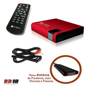 Receptor / Sintonizador Tv Digital Antena Dvd Automotivo