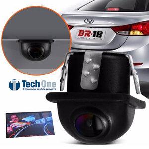 Câmera de Ré Tartaruga Sensor De Curva Visão Noturna Colorida Universal