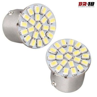 Par Lâmpadas LED 2 Polos 12V Branca Aplicação na Lanterna Freio