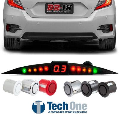 Sensor de Ré Estacionamento Prime Visor Slim