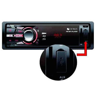 Auto Rádio AM FM MP3 Player USB SD 3 cores de Iluminação