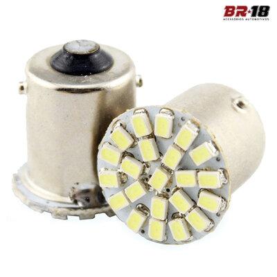 Par Lâmpadas LED 1 Polo 12V Branca Aplicação na Placa Teto Ré