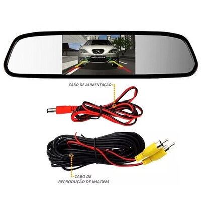 Espelho Retrovisor Interno com Tela LCD