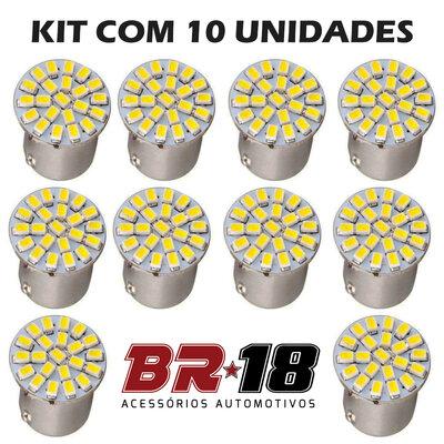 10 Unidades (5 Pares) LED 67 12V 2 Polos