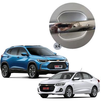 Película Anti Risco Para Maçaneta Onix / Tracker 2020 2021 Chevrolet GM