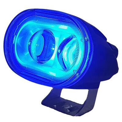 Farol Led Blue Spot Empilhadeira Pulverizador Nr11 Luz Azul