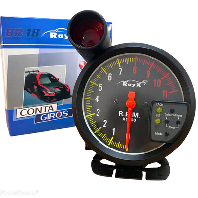 Relógio Conta Giro RPM Monster 15 Cores Turbo Shift Light Tuning