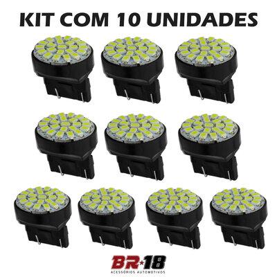 10 Unidades (5 Pares) T20 Pingo LED 2 Polos