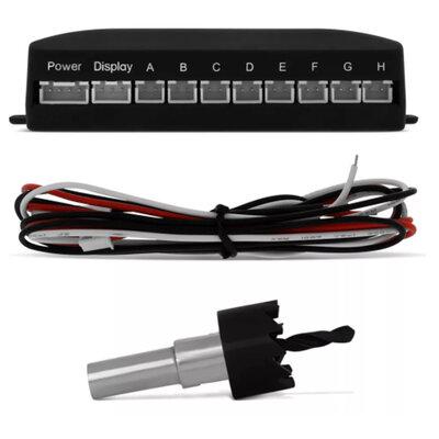 Sensor de Estacionamento 8 Pontos Universal Dianteiro e Traseiro