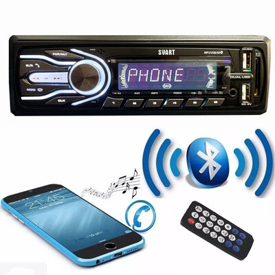 Rádio Automotivo Svart T500 Mp3 Usb Sd Card Bluetooth Fm
