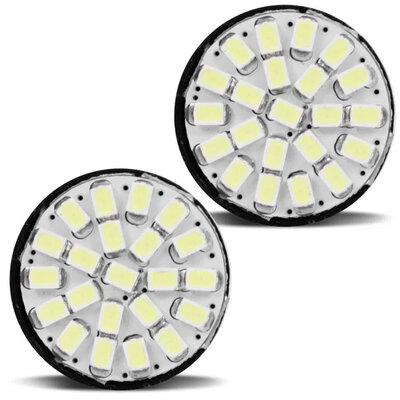 Par Lâmpada LED 1 Polo Trava T20 22 LEDs 12V Branca Ré