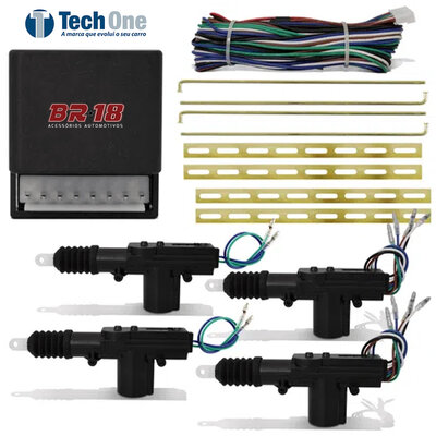 Kit Trava Elétrica Universal para 4 Portas Dupla Serventia