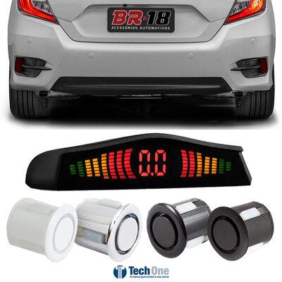 Sensor de Ré Estacionamento Visor Led Standard - Tech One