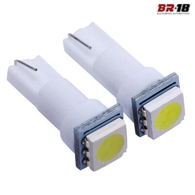 Par Lâmpadas LED Pingo T5 Mosquito 12V Aplicação Painel Quebra Sol