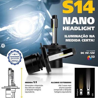 Super LED HeadLigth Nano S14 32w 6000k