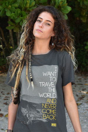Long Tee | Travel The World Never Come Back