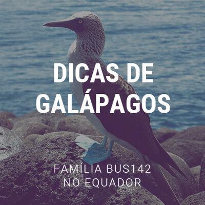 Dicas da Família BUS142 em Galápagos
