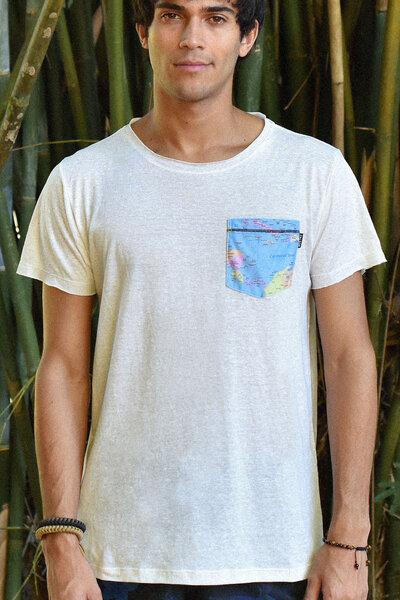 T-Shirt | Map | Linho Reciclado