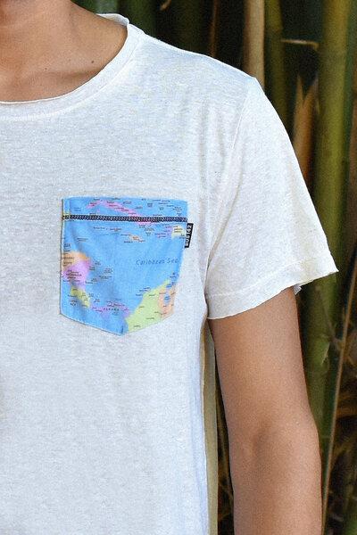 Tee Oversized | Map | Linho Reciclado