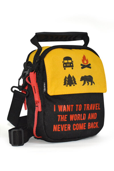 Shoulder Bag | Travel The World and Never Come Back