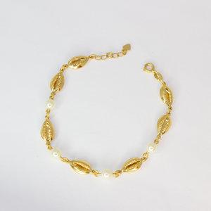 Pulseira Buzios com Pérola Ouro18k