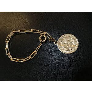 Pulseira Medalha São Bento Ouro