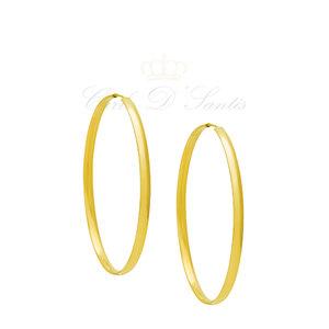 Argola Basica GR 6 cm Dourada
