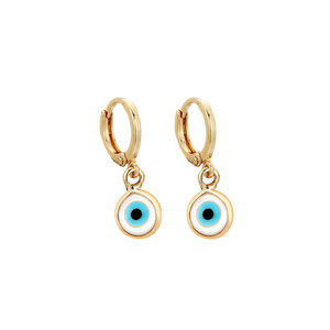 Argola Pequena Olho Grego Ouro (escolha o TAMANHO)