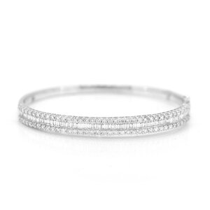Bracelete Baguetes Prata925