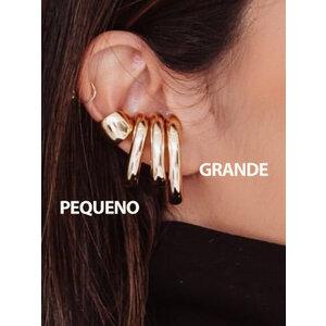 Ear hook Bold liso Ouro (escolha o tamanho)