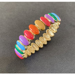 Pulseira Esmaltada Candy Colors Ouro