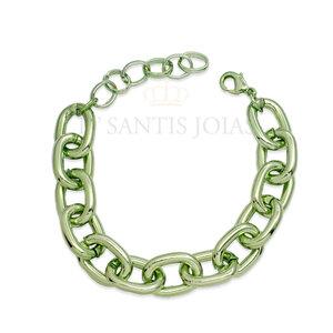 Pulseira Elos Metalizados cor Verde