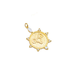 Pingente Medalha signo Aries Ouro18k