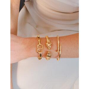 Bracelete Torcido Pantera Ouro