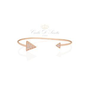 Bracelete Ouro Cravejado Prata925