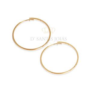 Argola 3.5 cm Basica Ouro