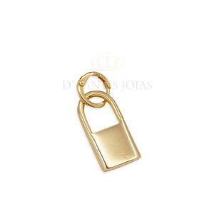 Pingente/ argola cadeado Ouro