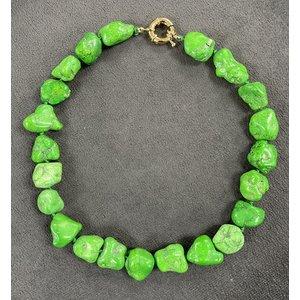 Colar Pedra Howlita Verde Vozza