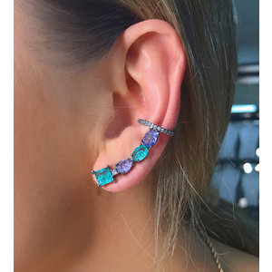 Brinco Ear Cuff com Piercing Colors Negro