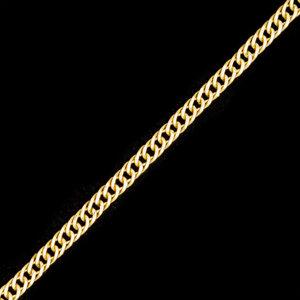Colar Corrente Grumet ELO DUPLO Ouro 60 cm