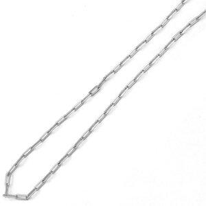 colar corrente modelo cartier delicada elos 0,5 mm rodio ( ESCOLHA O TAMANHO )