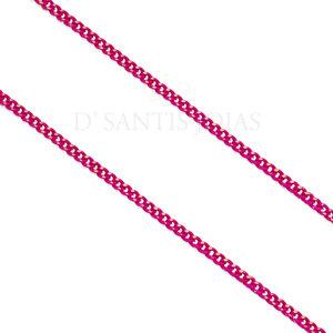 Colar Longo Grumet Delicado Pink