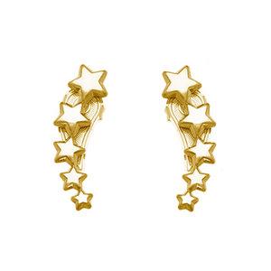 Earcuff Estrelas Ouro