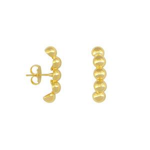 Ear Hook Bolinhas Ouro trend