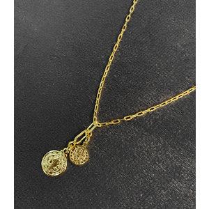 Colar Medalhas São Bento Pequenas Ouro