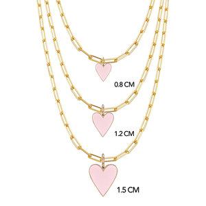 Colar Pingente LOVE Rosa Corrente Cartier Ouro (Escolha o tamanho)