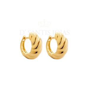 Argola Caracol Fechada Ouro18k