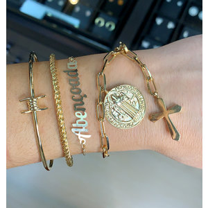 Bracelete corda Italiana Ouro