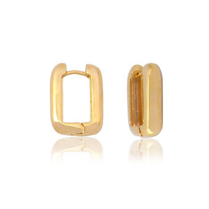 Argola Retangular ouro18k (escolha o tamanho)