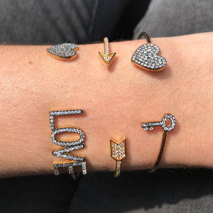 Bracelete Love Cravejado Prata925